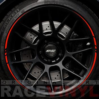 Racevinyls vinilo pegatina adhesivo llanta rueda coche EBAY ROJO