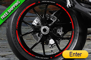 DUCATI MONSTER RIM STICKERS