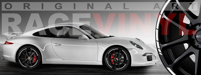 Racevinyl Speed Car Rim Stripes