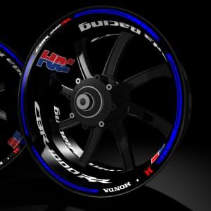 Rim stickers kit pro Racevinyl Honda HRC