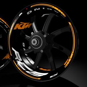 models kit pro KTM RC8 pegatina llanta rueda moto vinilo adhesivo tuning rim sticker kit stripes wheel motorcycle vinyl racevinyl