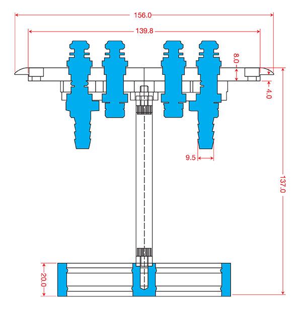 Injector Hanger Dimensions
