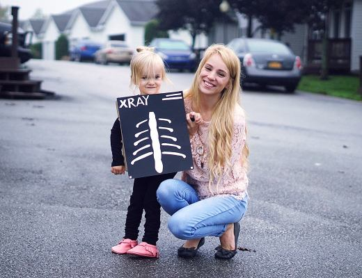 DIY X-Ray Costume Unique Costume Idea | Rachael Burgess