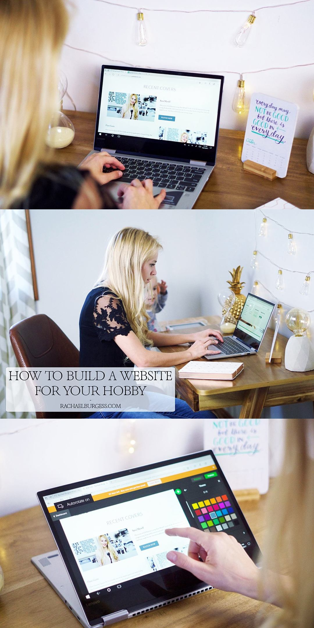 How to Make a Website for your Hobby | Rachael Burgess