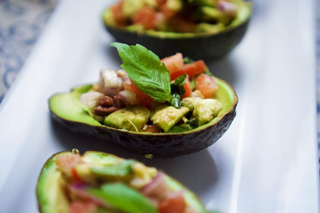 Stuffed Avocado Salsa Recipe | Vegan Living