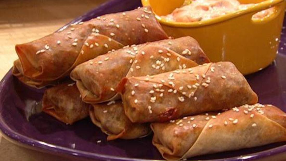 cheeseburger egg rolls rachael