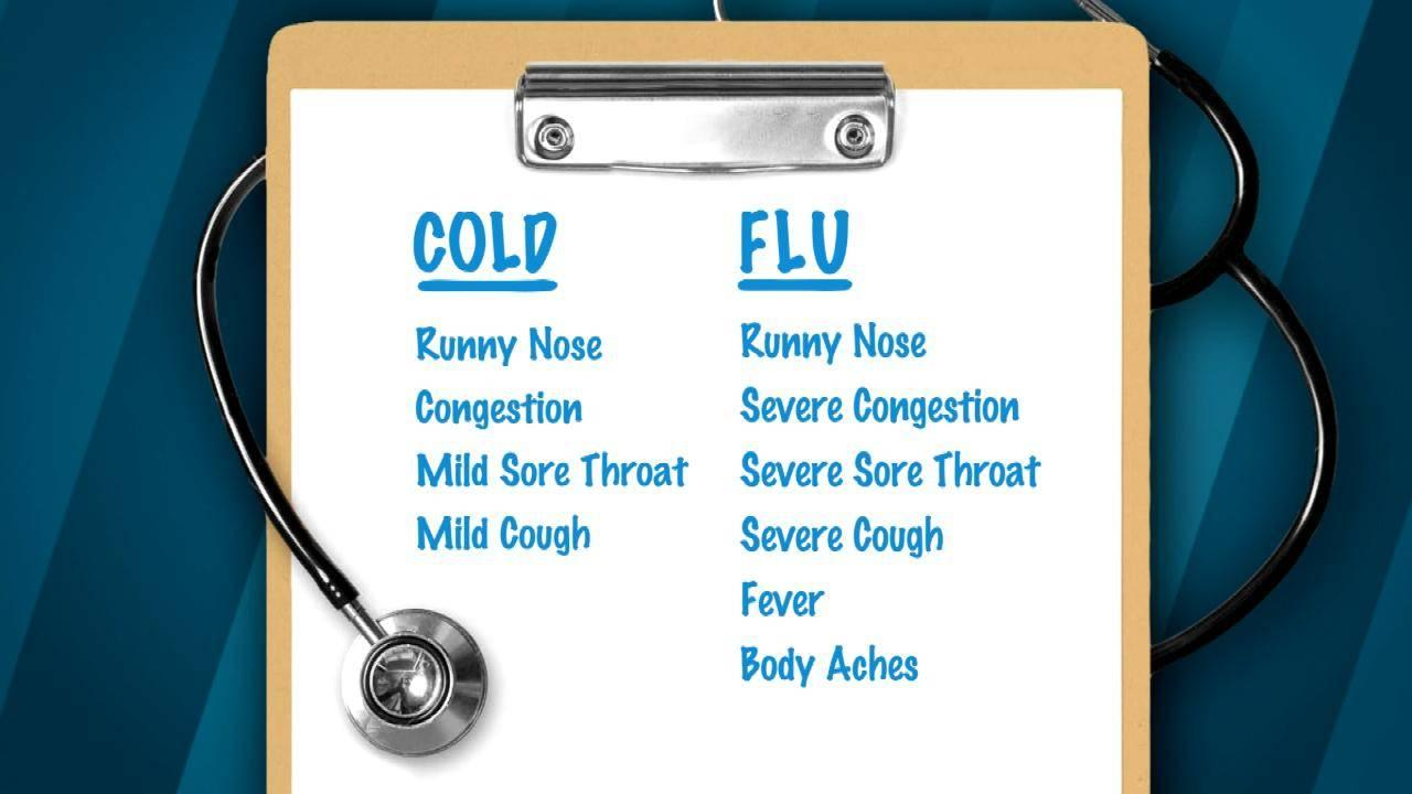 Cold Or The Flu? How To Tell The Difference Between Symptoms ...