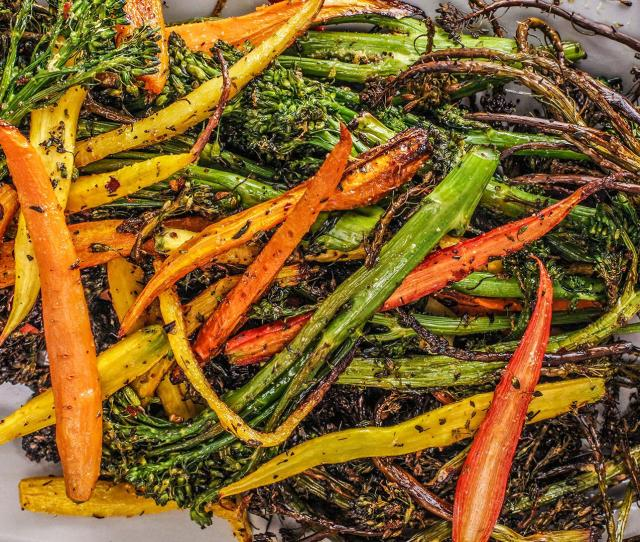 How To Make Roasted Broccolini And Baby Carrot By Rachael