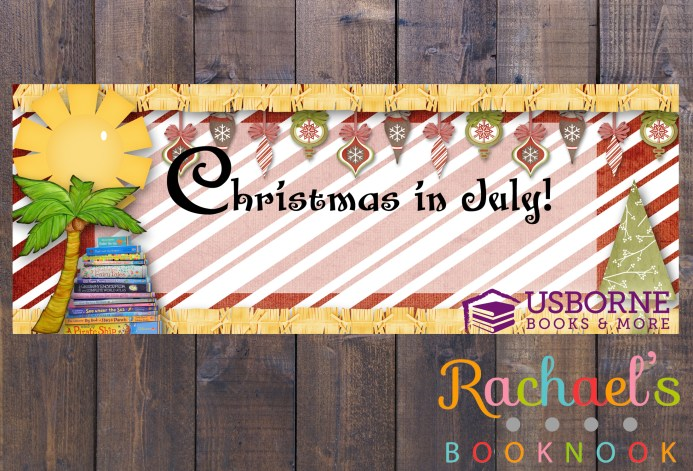Christmas in July banner flyer