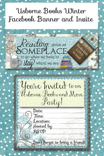 Usborne Winter FB banner and Invite