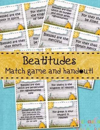 Primary 7 Lesson 10 Beatitude Match Flyer