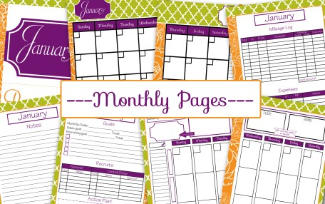Usborne planner Monthly pages