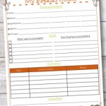 Direct Sales Fall Goals Tracking Sheet
