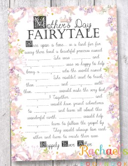 Mother's Day Fairy Tale Mad Lib Flyer 2