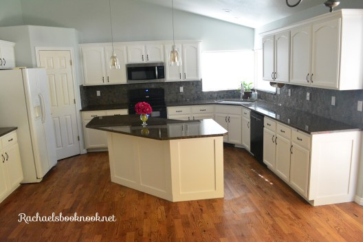 Coastal Kitchen make over with white cabinets
