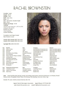 Rachel Brownstein - Actor CV