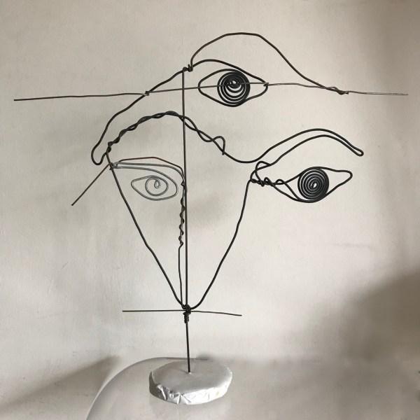 Figure Wire Sculpture Faces