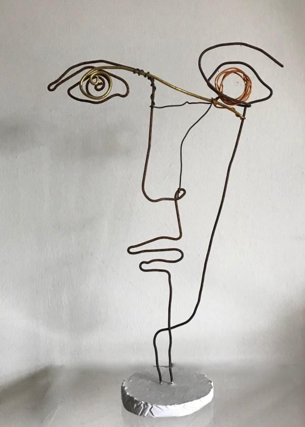 Wire Faces Rachel Ducker Sculpture
