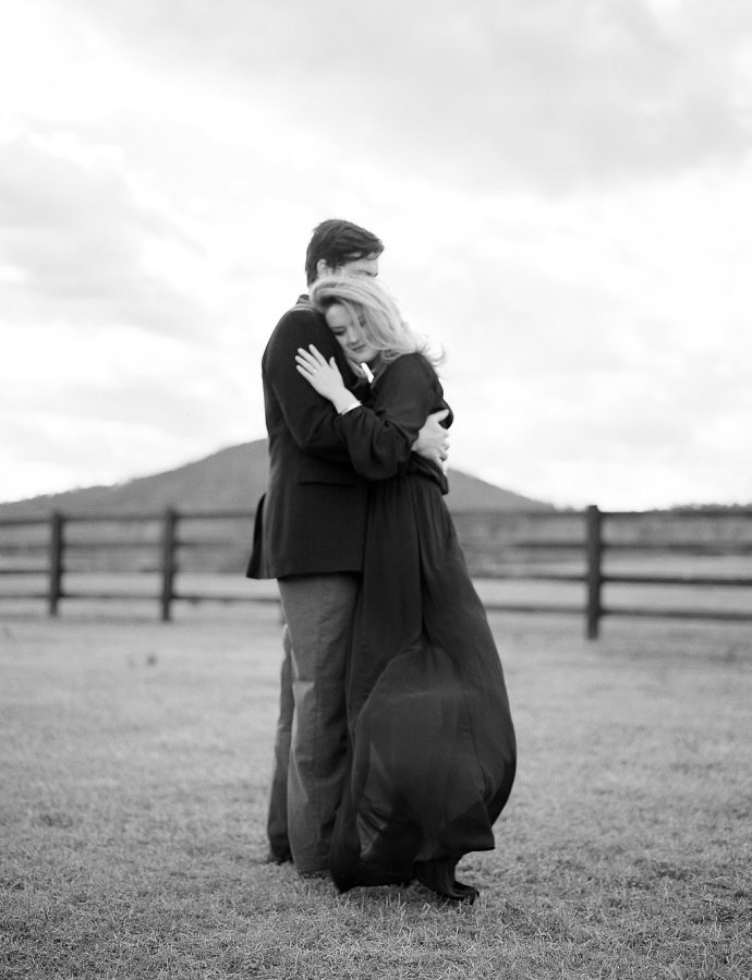 Engagement  Winter Engagement at Pursell Farms