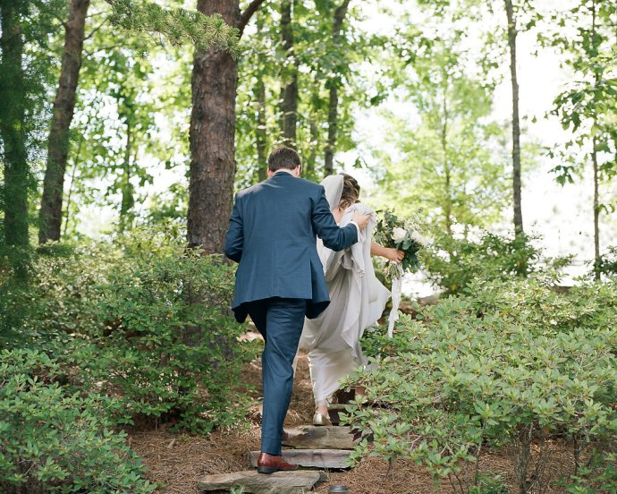 wedding  Relaxed and Romantic Alabama Backyard Wedding