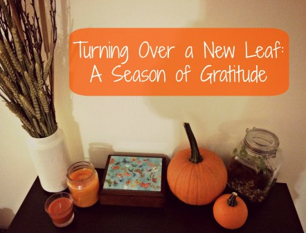 Turning Over a New Leaf A Season of Gratitude