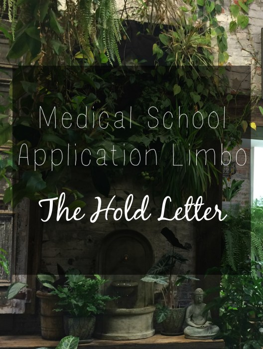 Medical School Application limbo: the hold letter