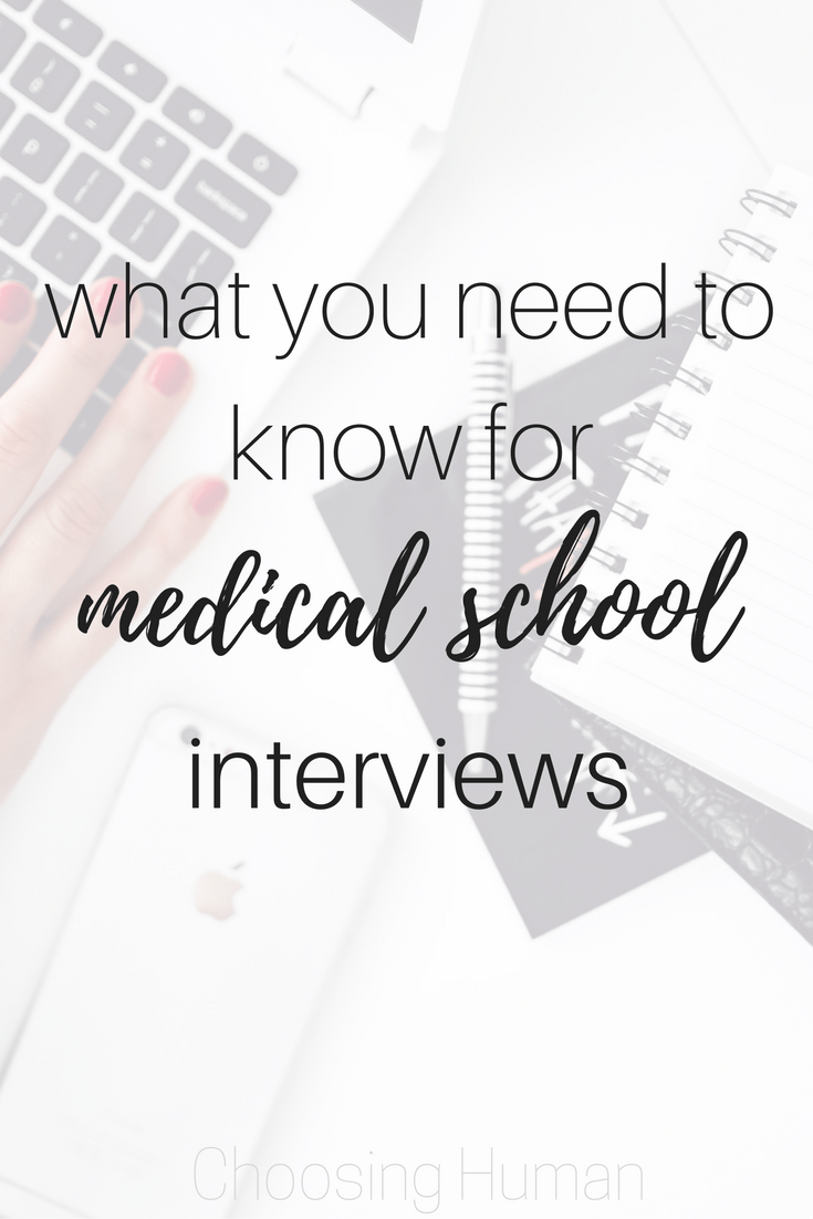 What you need to know for medical school interviews