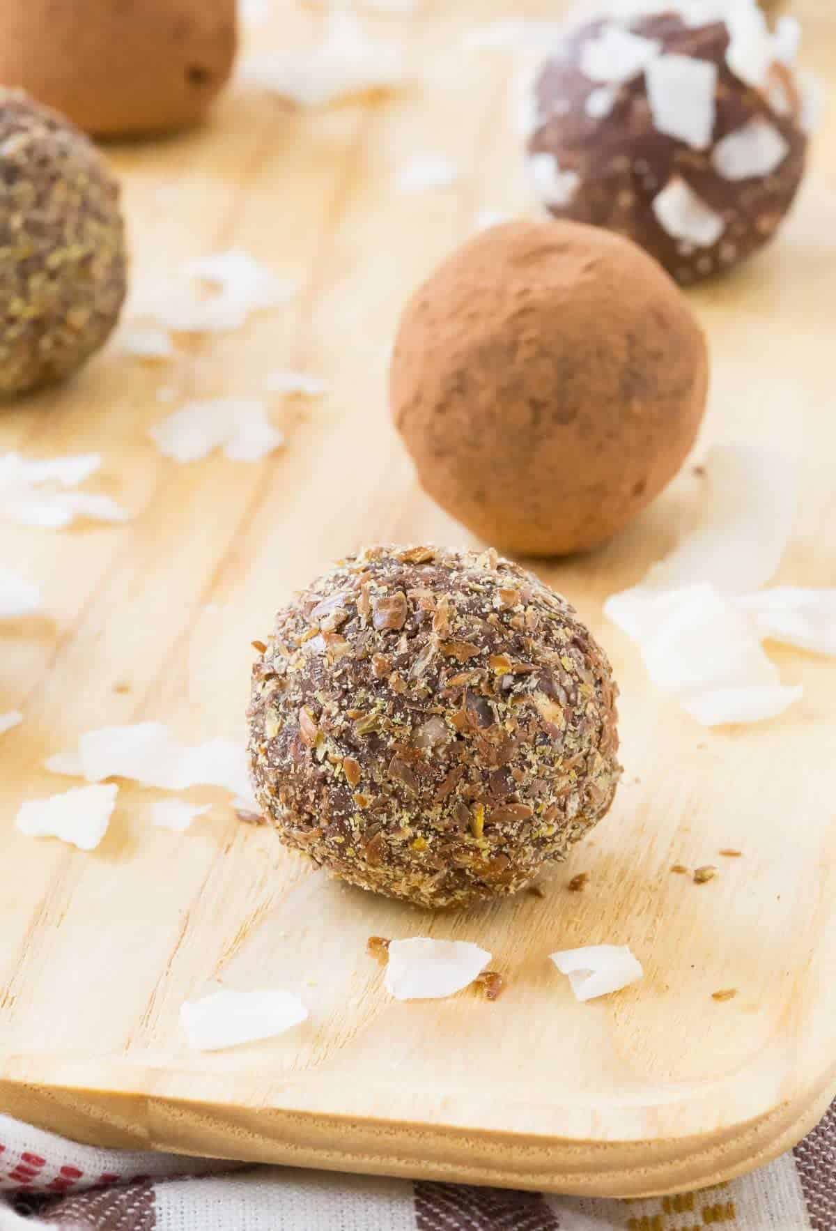 Chocolate Coconut NutFree Energy Balls no bake  Rachel Cooks