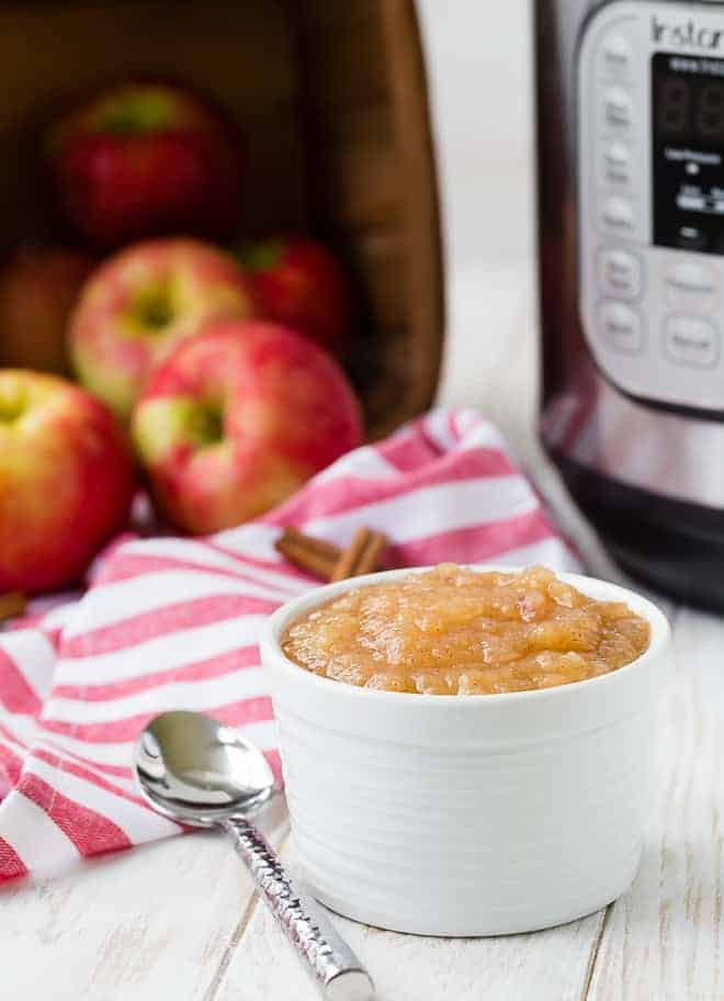 You're going to love the ease of making applesauce in your Instant Pot! Totally hands off, this Instant Pot applesauce turns out perfectly every time!