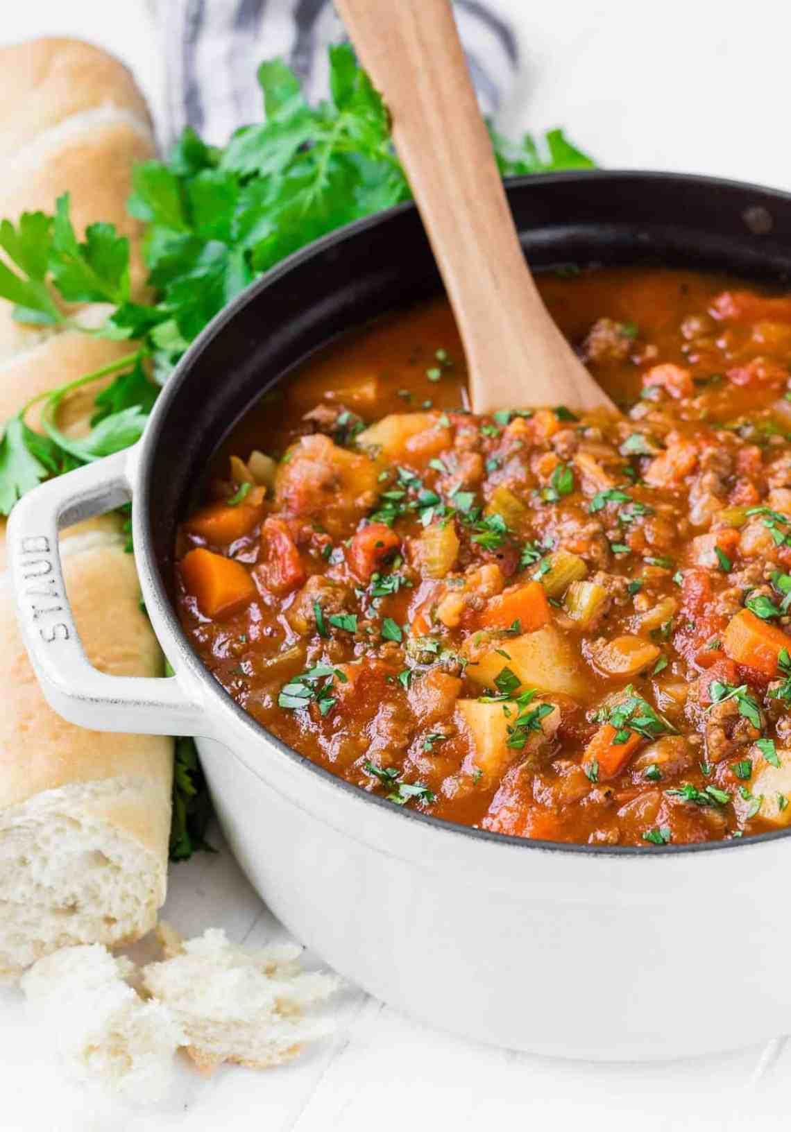 Download Easy Hamburger Soup Recipe - Rachel Cooks®