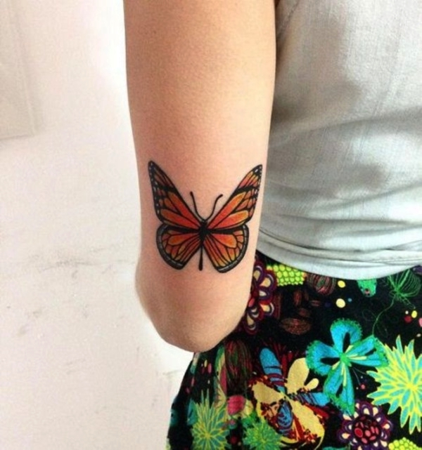Butterfly Turning Into Flowers Tattoo