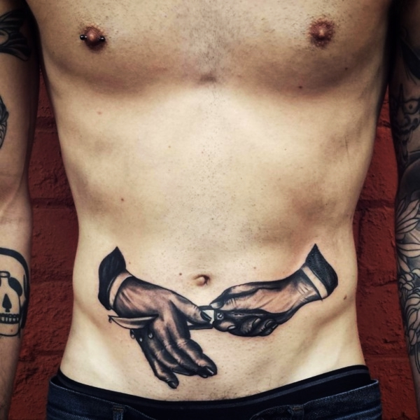 Side Stomach Tattoos For Guys