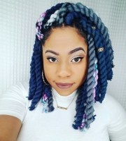 trendy yarn braids