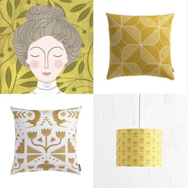 Sian Elin cushions and lampshades