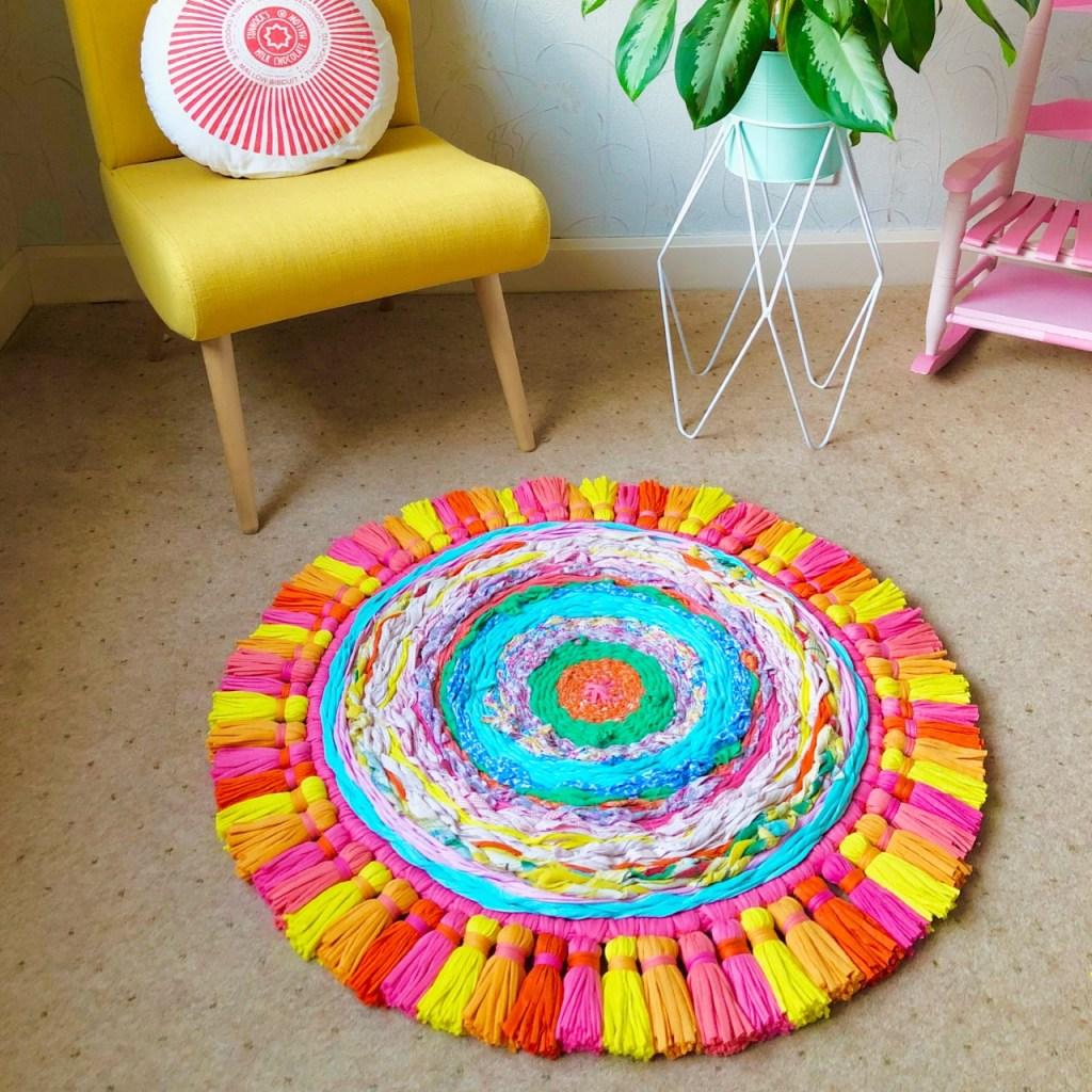 Woven upcycled rug