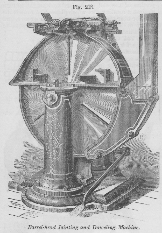 K Barrel-Head Jointing and Doweling Machine