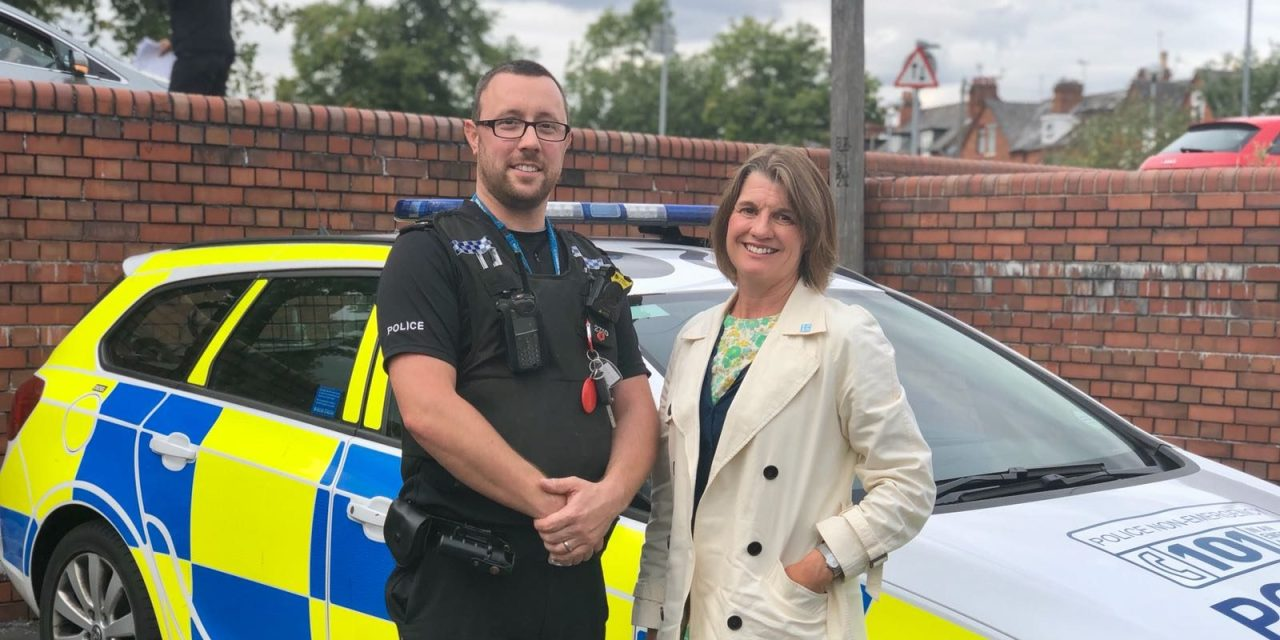 Rachel joins Redditch police out on patrol