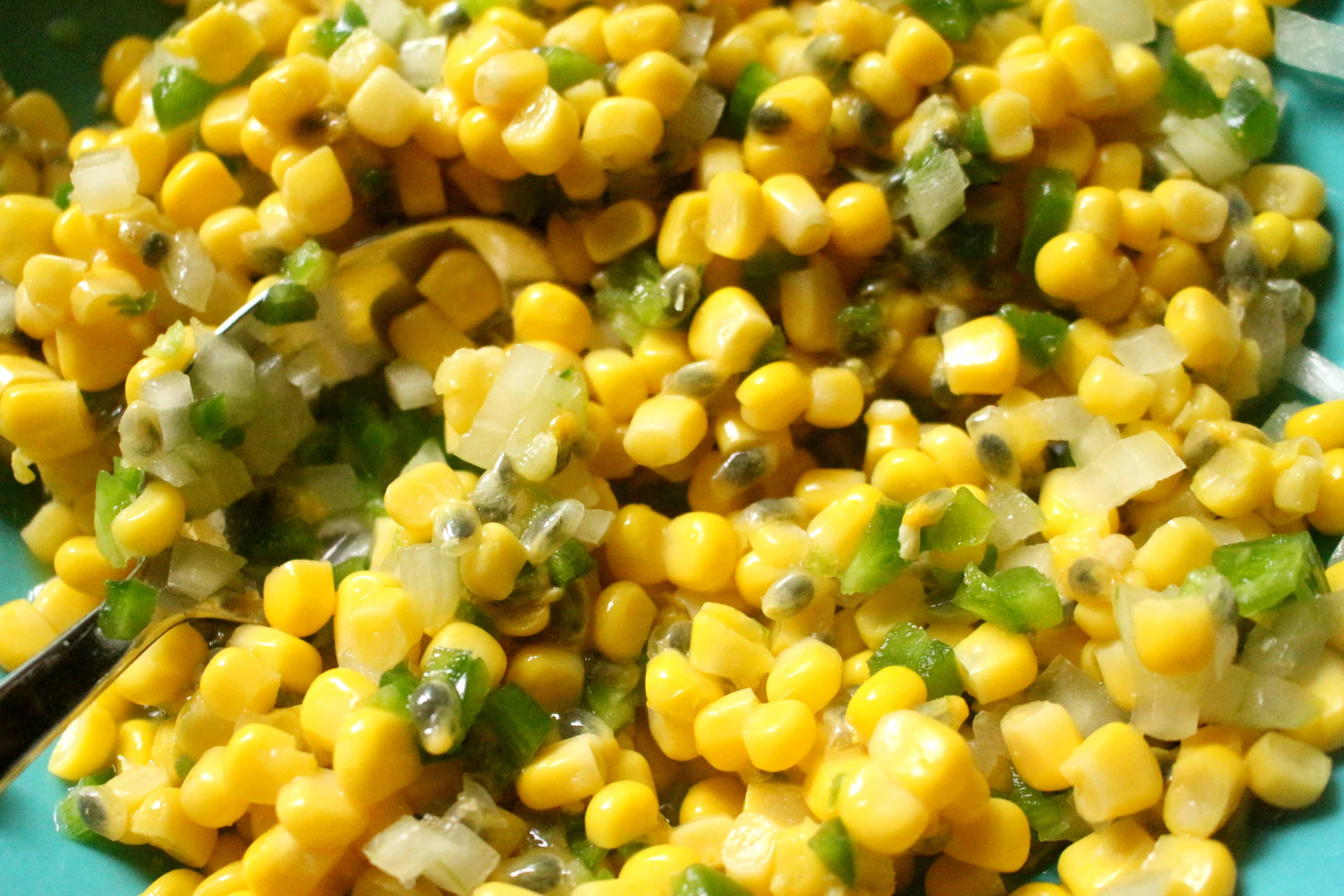 Corn and Passionfruit Salsa