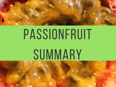 Flavor of the Month Summary: Passionfruit