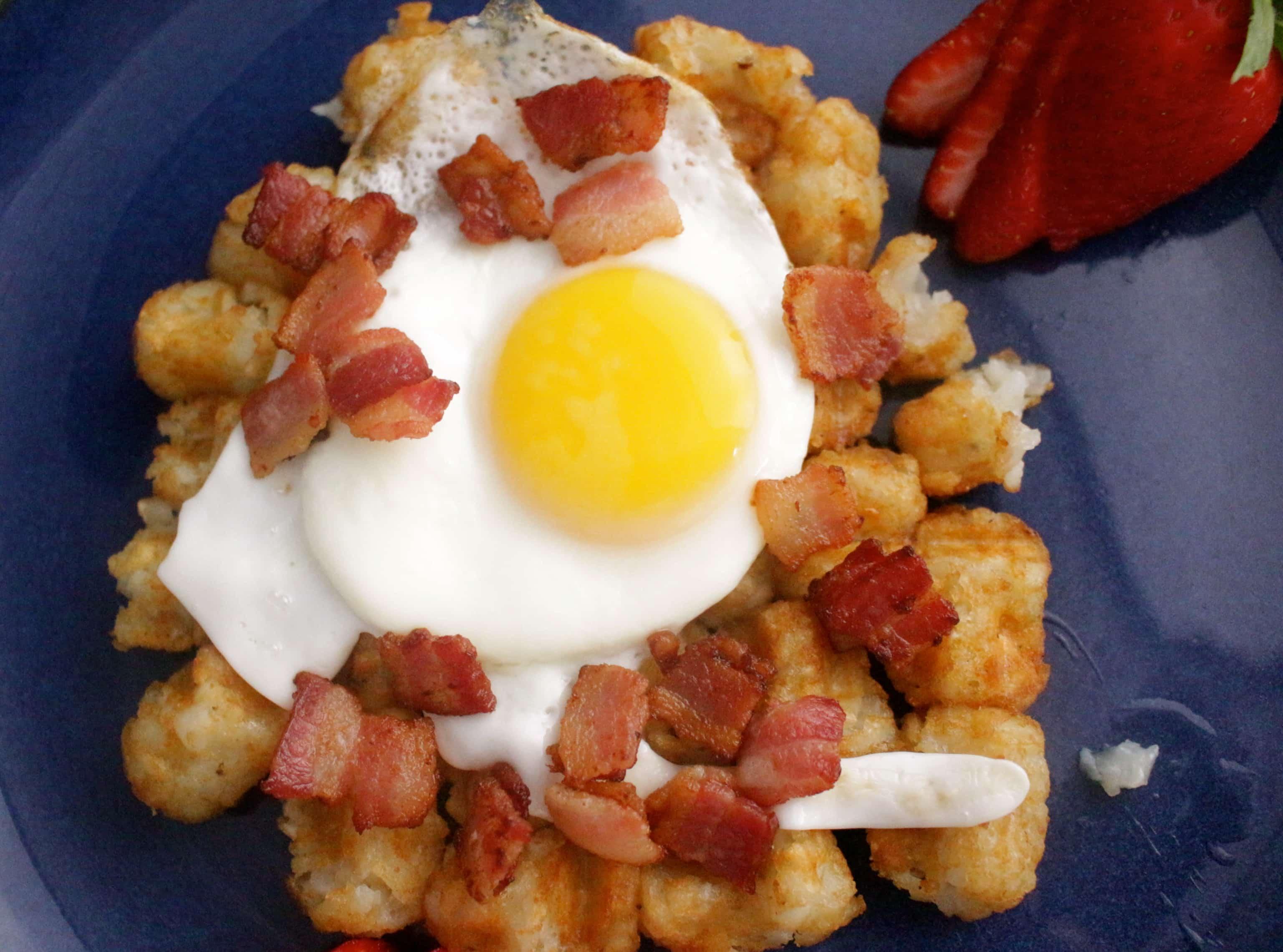 Tater Tot Waffle Breakfast