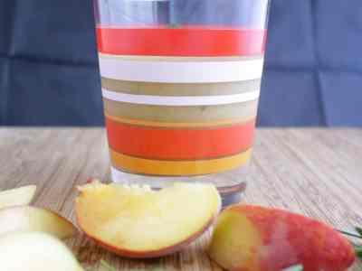 Don't Judge Me Mondays: Peach and Rosemary Slushy