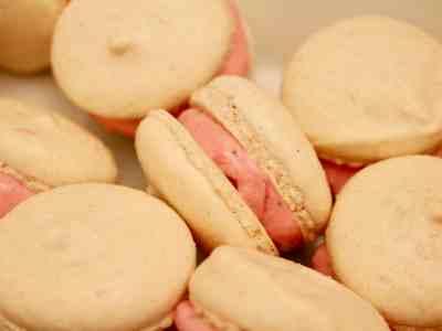 Thanksgiving Cranberry Macarons