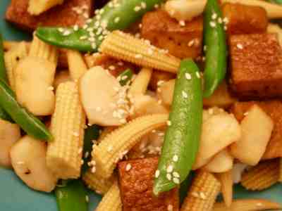 Vegan Baby Corn Stir-fry