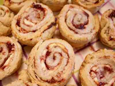 Muffin Tin Fig Goat Cheese Pinwheels