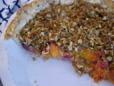 Peach & Grape Pie