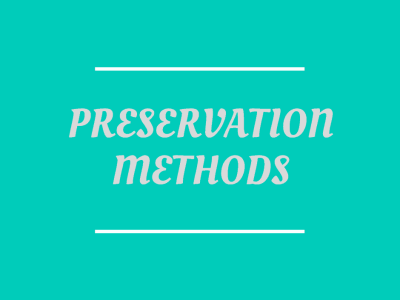 Preserving Methods