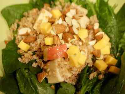 Bulgur & Apple Spinach Salad