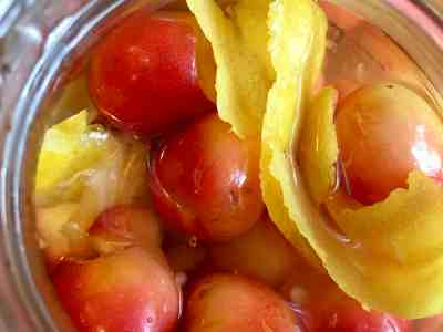 Pickled Rainier Cherries