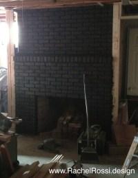 How to Blackwash Your Brick Fireplace | Rachel Rossi