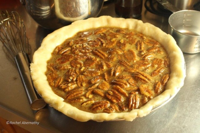 Sorghum Molasses Pecan Pie, ready to be baked!